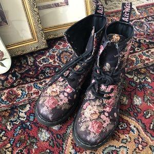 Dr. Martens 1460 Floral Canvas Boots